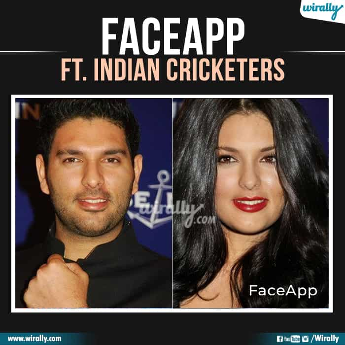 18 Indian Cricketers Faceapp