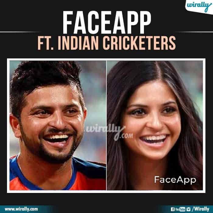 19 Indian Cricketers Faceapp