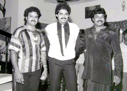 2. Rare Pic Of Balayya, Venky & Chiru