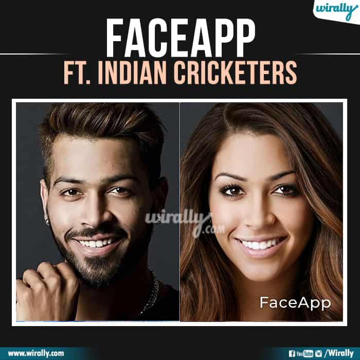 3 Indian Cricketers Faceapp
