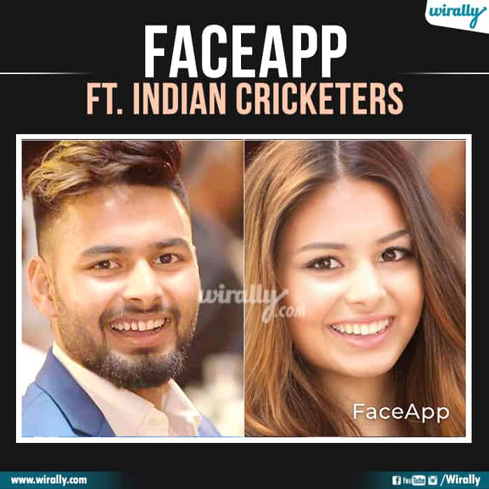4 Indian Cricketers Faceapp