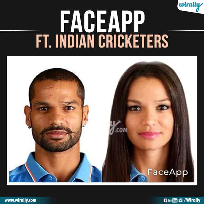 5 Indian Cricketers Faceapp