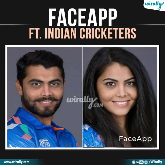 6 Indian Cricketers Faceapp