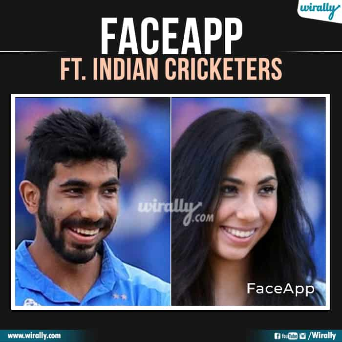 7 Indian Cricketers Faceapp