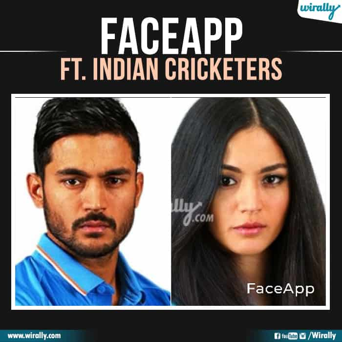 8 Indian Cricketers Faceapp