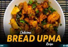 Delicious Bread Upma Recipe