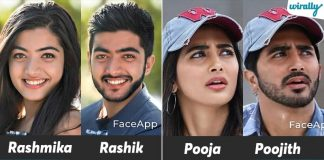 We Tried To Convert Our Tollywood Heroines Gender Using Face App & You Will Be Surprise To Them Male Avatars 1