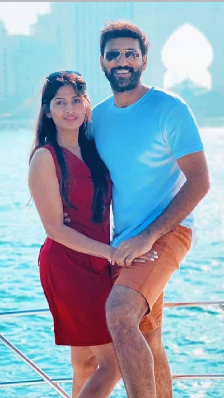 Actor Ajay With His Wife Swetha Ravuri 1