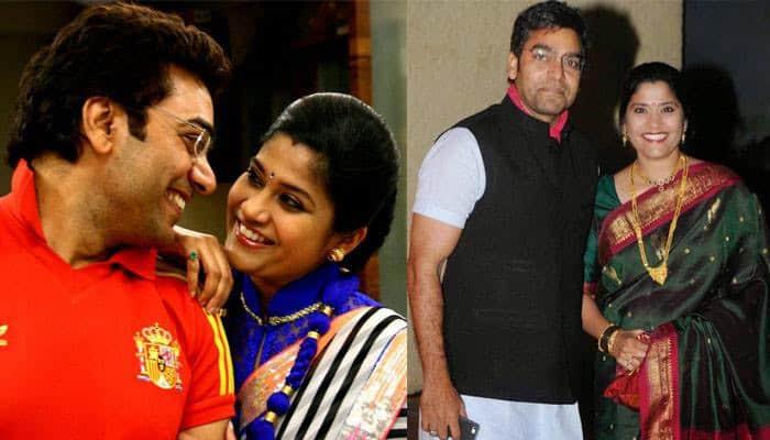 Ashutosh Rana With His Wife Renuka Shahane 2