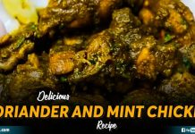 Delicious Coriander And Mint Chicken Recipe