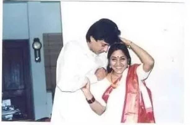 Raghuvaran With His Wife Rohini 1