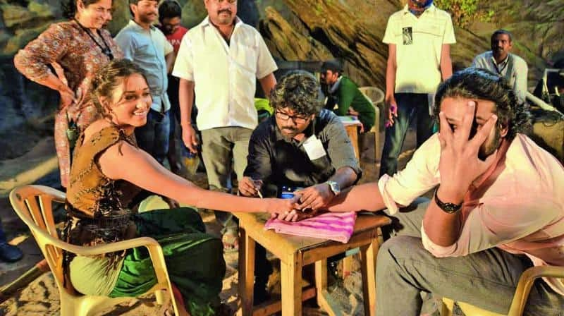 Unseen Working Stills From Baahubali Movie16