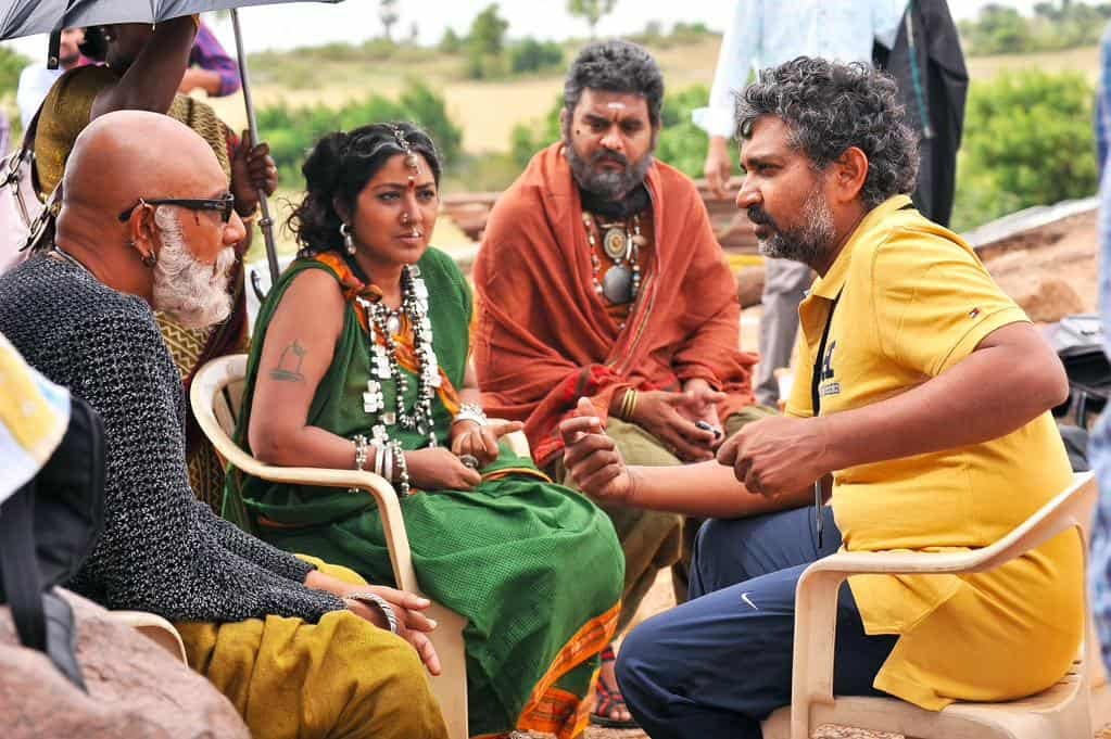 Unseen Working Stills From Baahubali Movie24