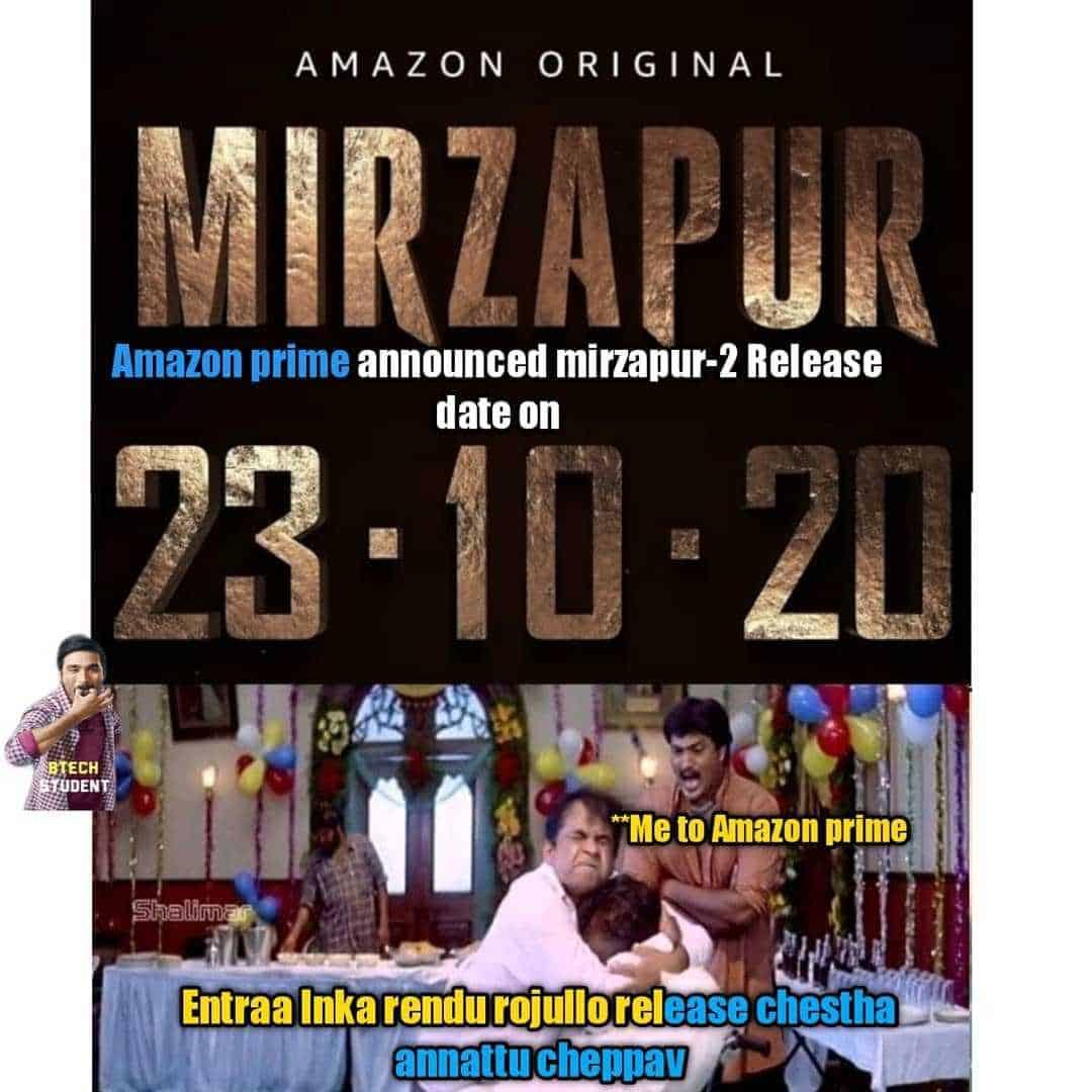 6. Mirzapur 2 Memes