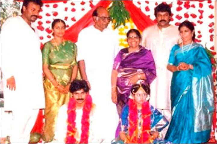 7. Pawan Kalyan 1st Marriage Photo With Nandini