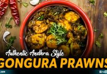 Authentic Andhra Style Gongura Prawns
