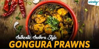 Authentic Andhra Style Gongura Prawns