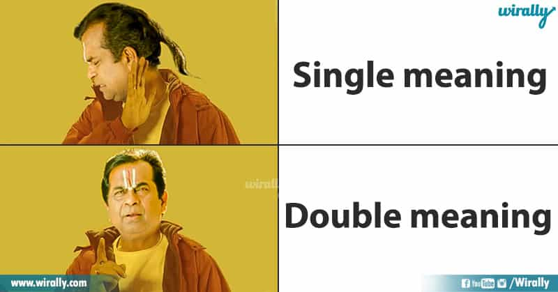 Single meaning - Double meaning