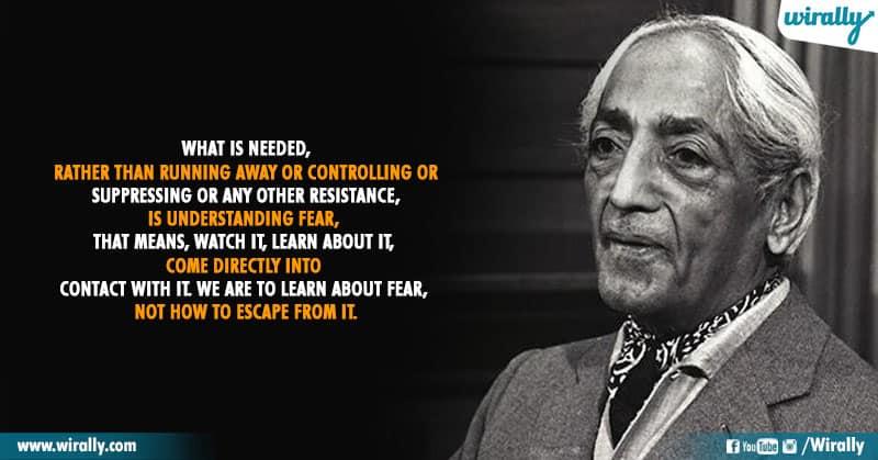 10.Quotes From Jiddu Krishnamurti Garu
