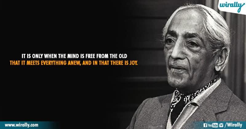 12.Quotes From Jiddu Krishnamurti Garu