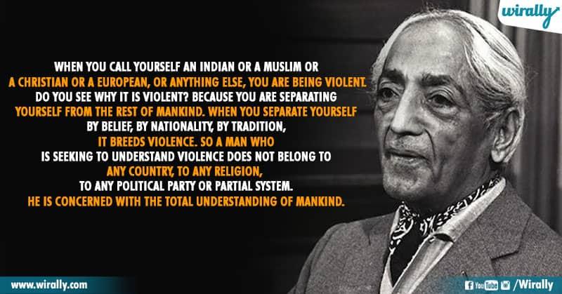 2.Quotes From Jiddu Krishnamurti Garu