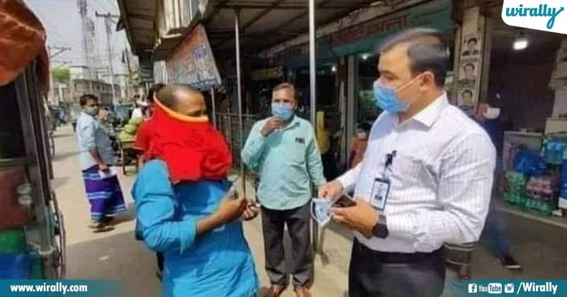 6.How indians Wear Masks