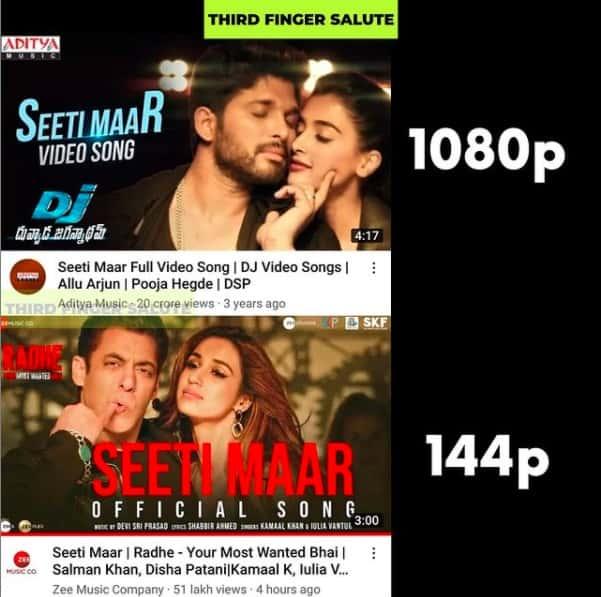 6.Memes On Sallman khan Seeti Maar song