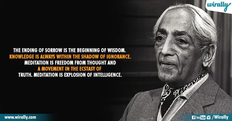 6.Quotes From Jiddu Krishnamurti Garu