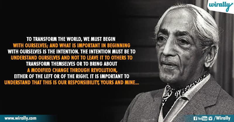 7.Quotes From Jiddu Krishnamurti Garu