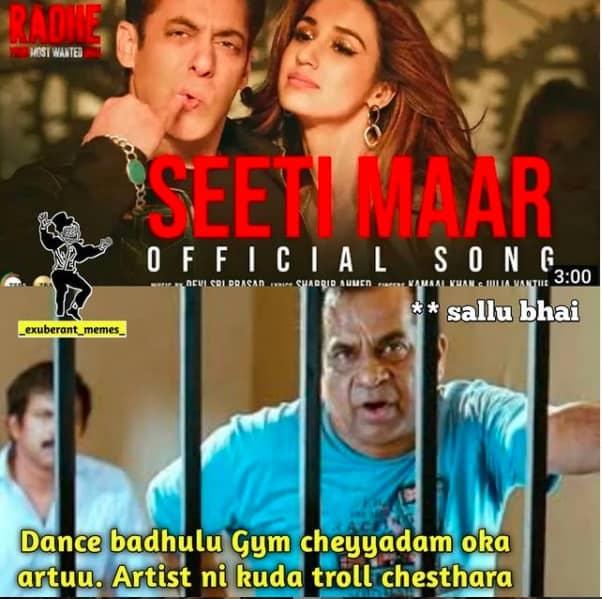 9.Memes On Sallman khan Seeti Maar song