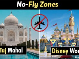 places where Flights not allowed to fly