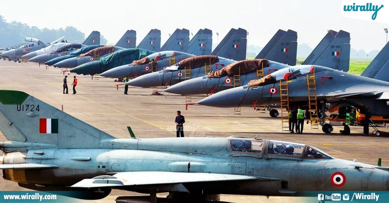 Different air force and air bases in the country