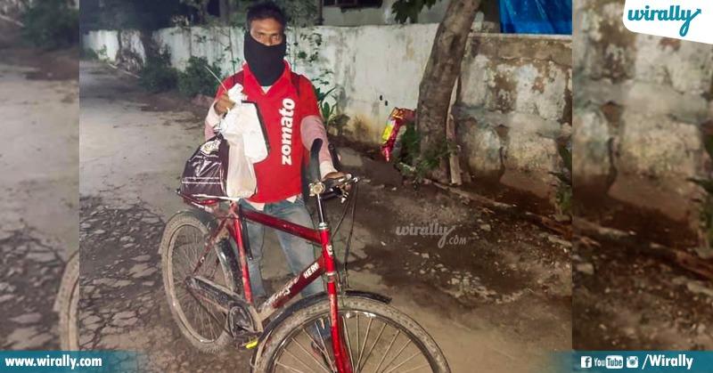 1.Bike gift to zomato delivery boy