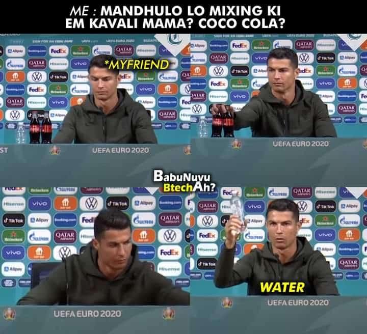1.Ronaldo coca cola memes
