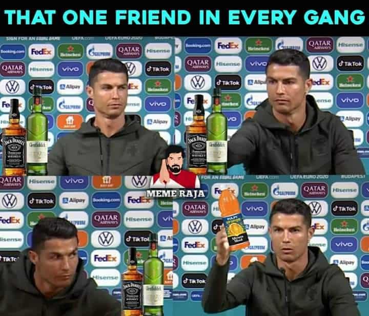 11.Ronaldo coca cola memes