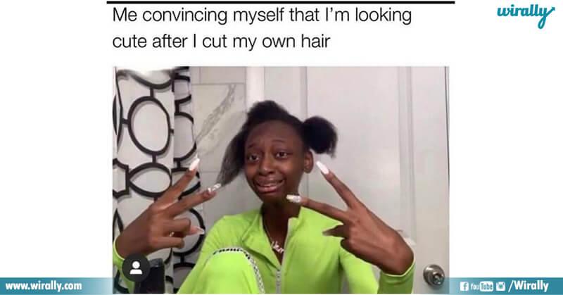 4.Girls hair cut