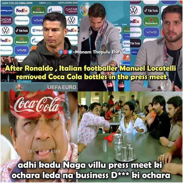 5.Ronaldo coca cola memes