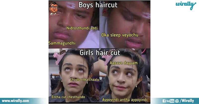 5A.Girls hair cut