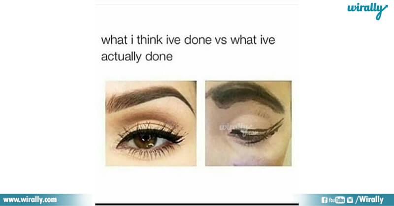 6.Girls Makeup problems