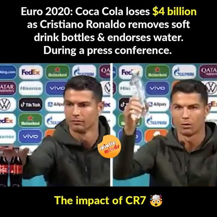 6.Ronaldo coca cola memes