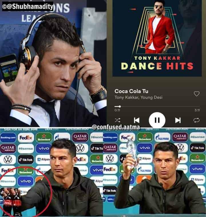8.Ronaldo coca cola memes