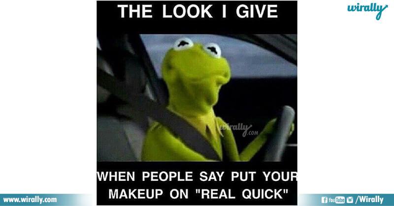 9.Girls Makeup problems