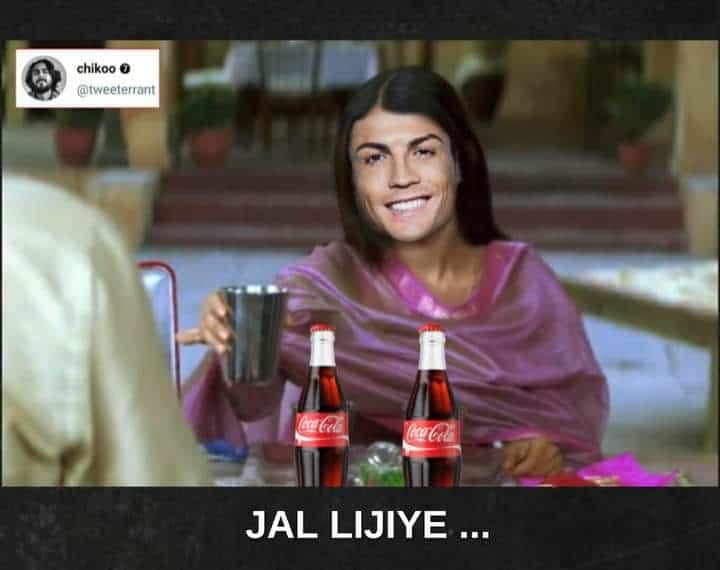 9.Ronaldo coca cola memes