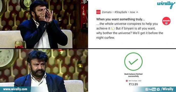 Zomato Notification, Balayya Babu Reaction