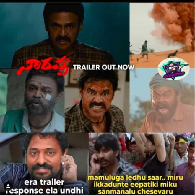 1.Narappa trailer memes