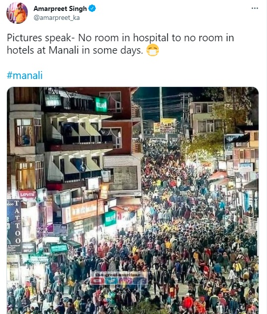 1.Viral Pics Of Tourists In Manali