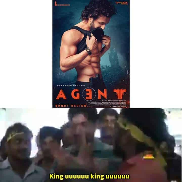 3.Akhil Agent firstlook memes