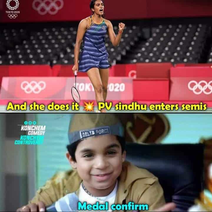 6.PV sindhu memes