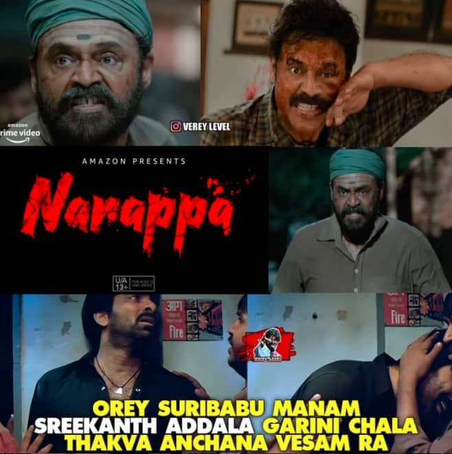 7.Narappa trailer memes