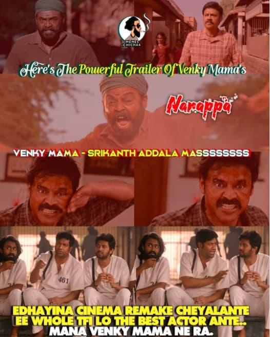 9.Narappa trailer memes